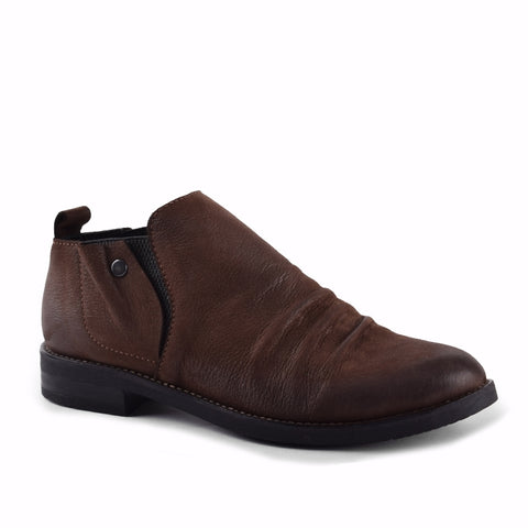 BROWN EAGLE NUBUCK W/BLACK ELASTIC