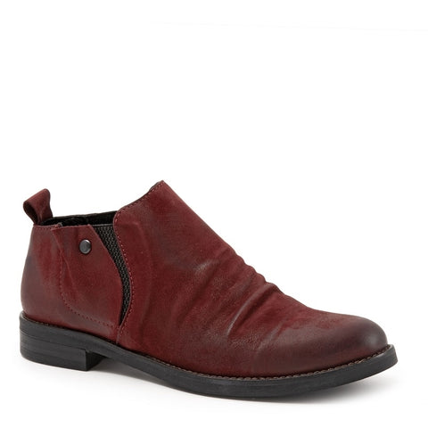DARK RED TULIP NUBUCK W/BLACK ELASTIC
