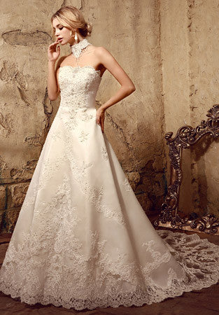 Vintage Style Lace Ball Gown Wedding Dress | HL1008