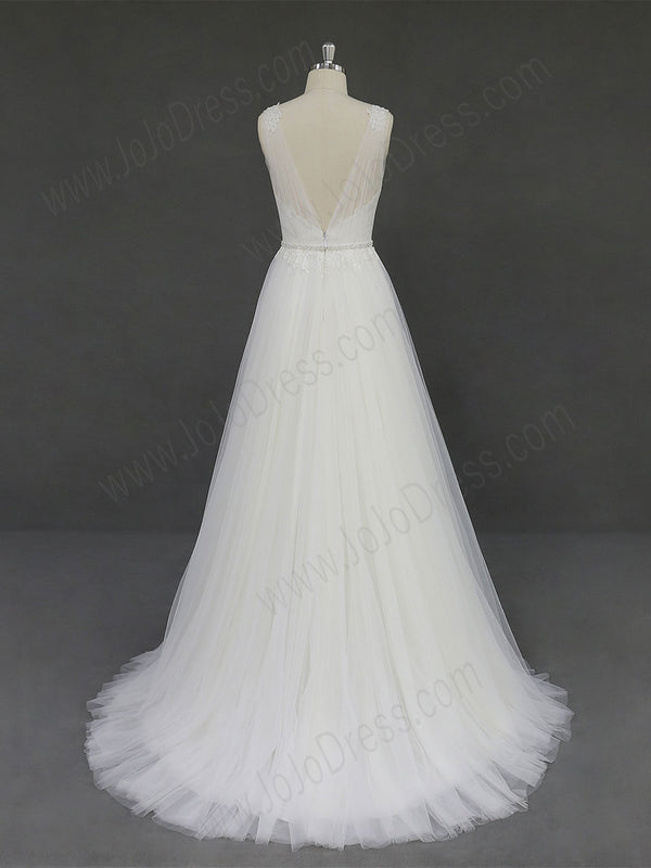 Bohemian Soft Tulle Lace Wedding Dress RD2005
