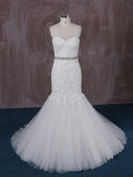 Strapless Cotton Lace Mermaid Wedding Dress | QT85186