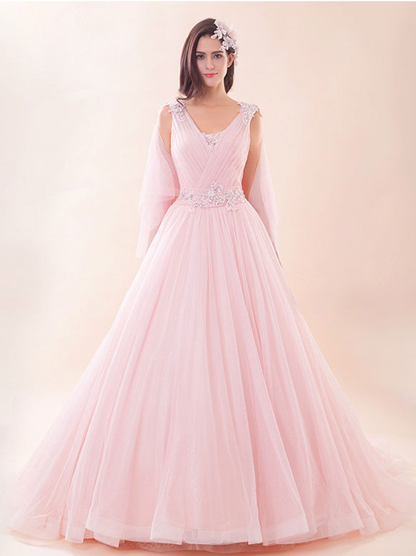 Pink Ball Gown Wedding Dress G2023