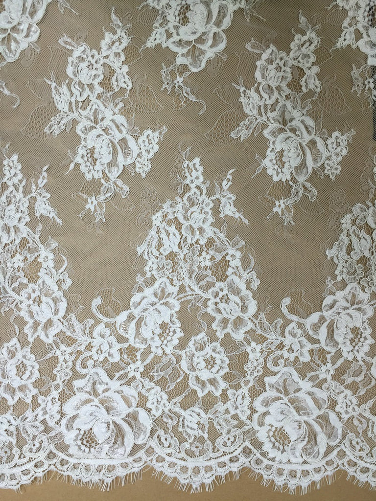 Chantilly Floral Lace Fabric LC1004