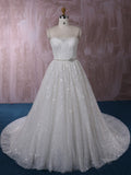 Classic French Alencon Lace Ball Gown Wedding Dress | QT85205
