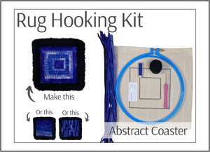 Rug Hooking Kit: Learn to Hook Abstract Coaster