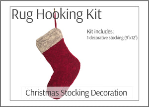 Christmas Stocking Decoration Rug Hooking Kit