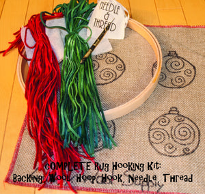 Christmas Ornaments Rug Hooking Kit