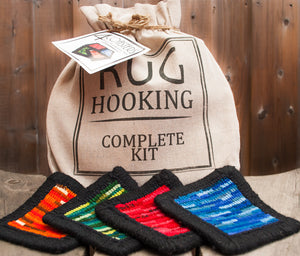 4 Coasters Rug Hooking Kit