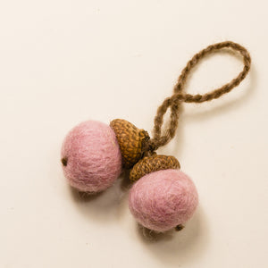 Wool acorn ornaments