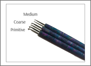 Rug Hooking Pencil Hook - purple silver