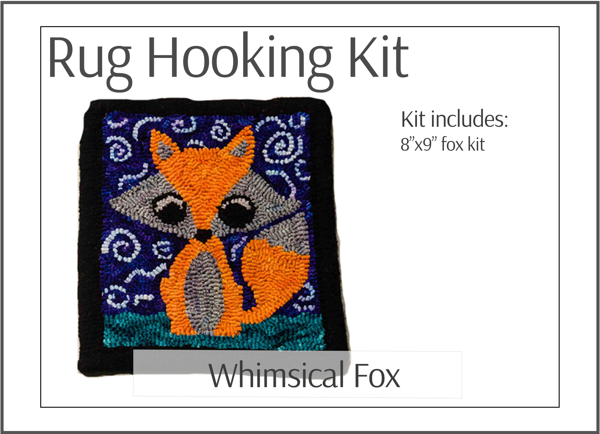 Whimsical Fox Rug Hooking Kit