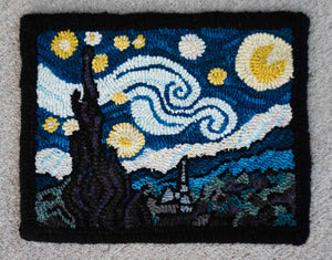 Van Gogh's Starry Night Linen Pattern