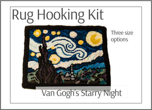 Van Gogh Starry Night Rug Hooking Kit