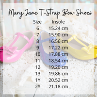 Mary Jane T-Strap Bow Shoe Blue