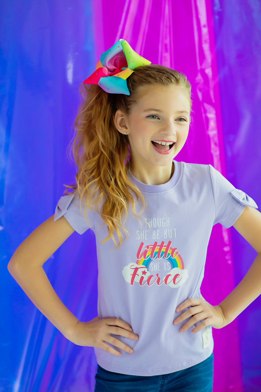Little but Fierce Bow Tee (4014921383981)