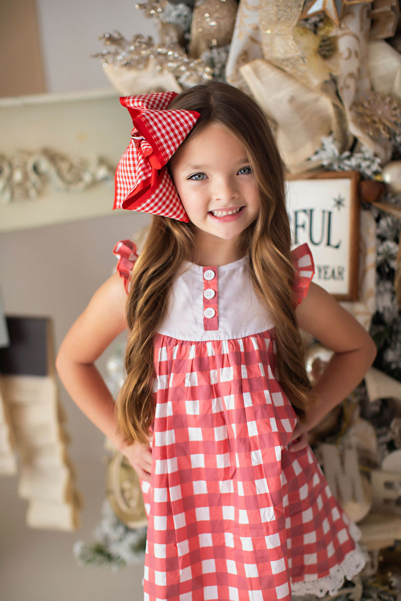 Red Gingham Dress and Bloomers