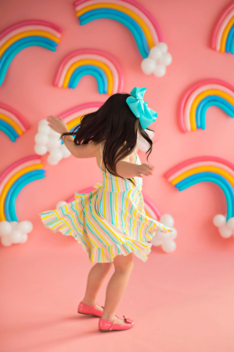 Happy Rainbow Stripe Sundress