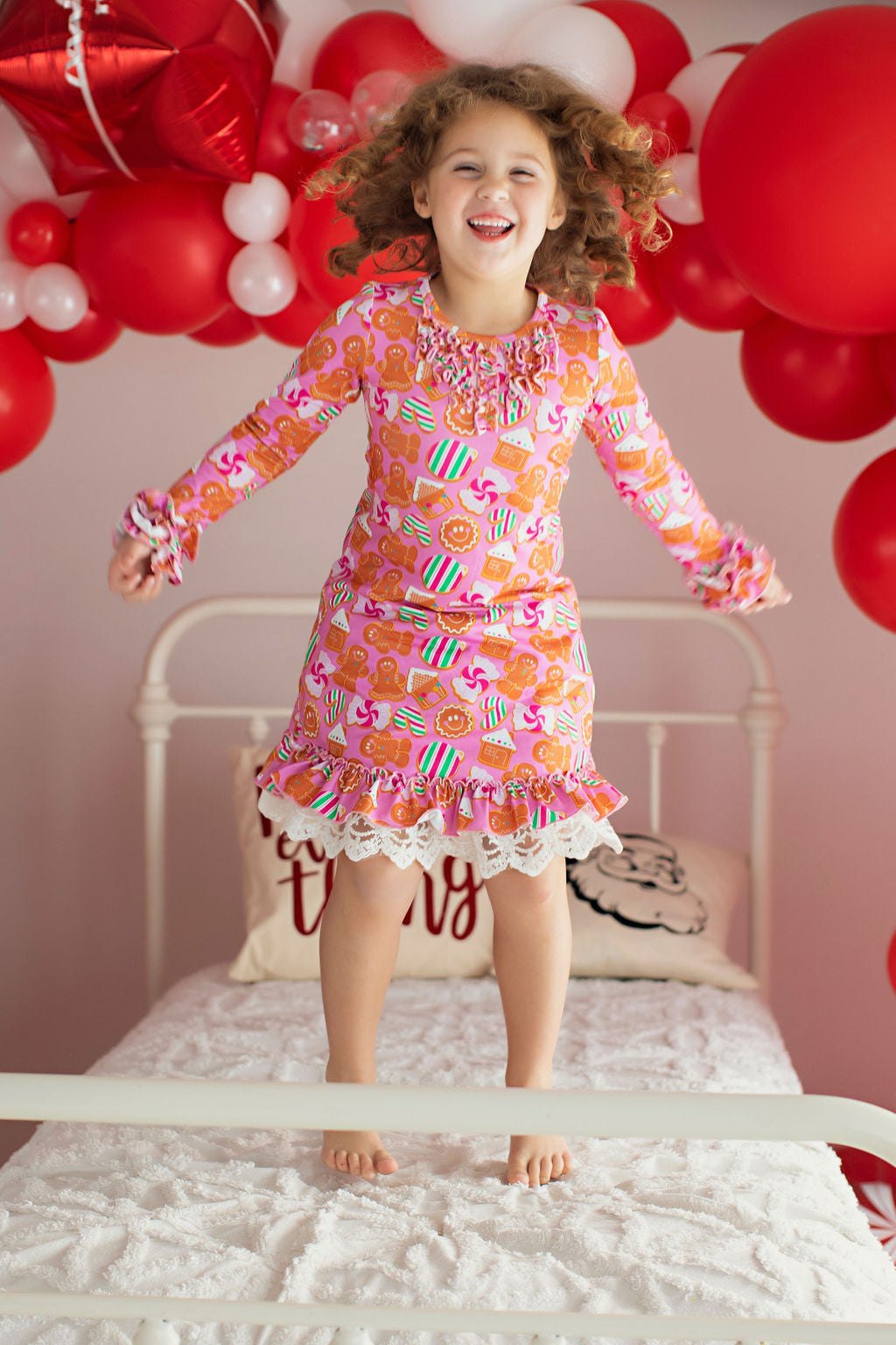 Gingerbread Lounge Wear Gown and Bloomers