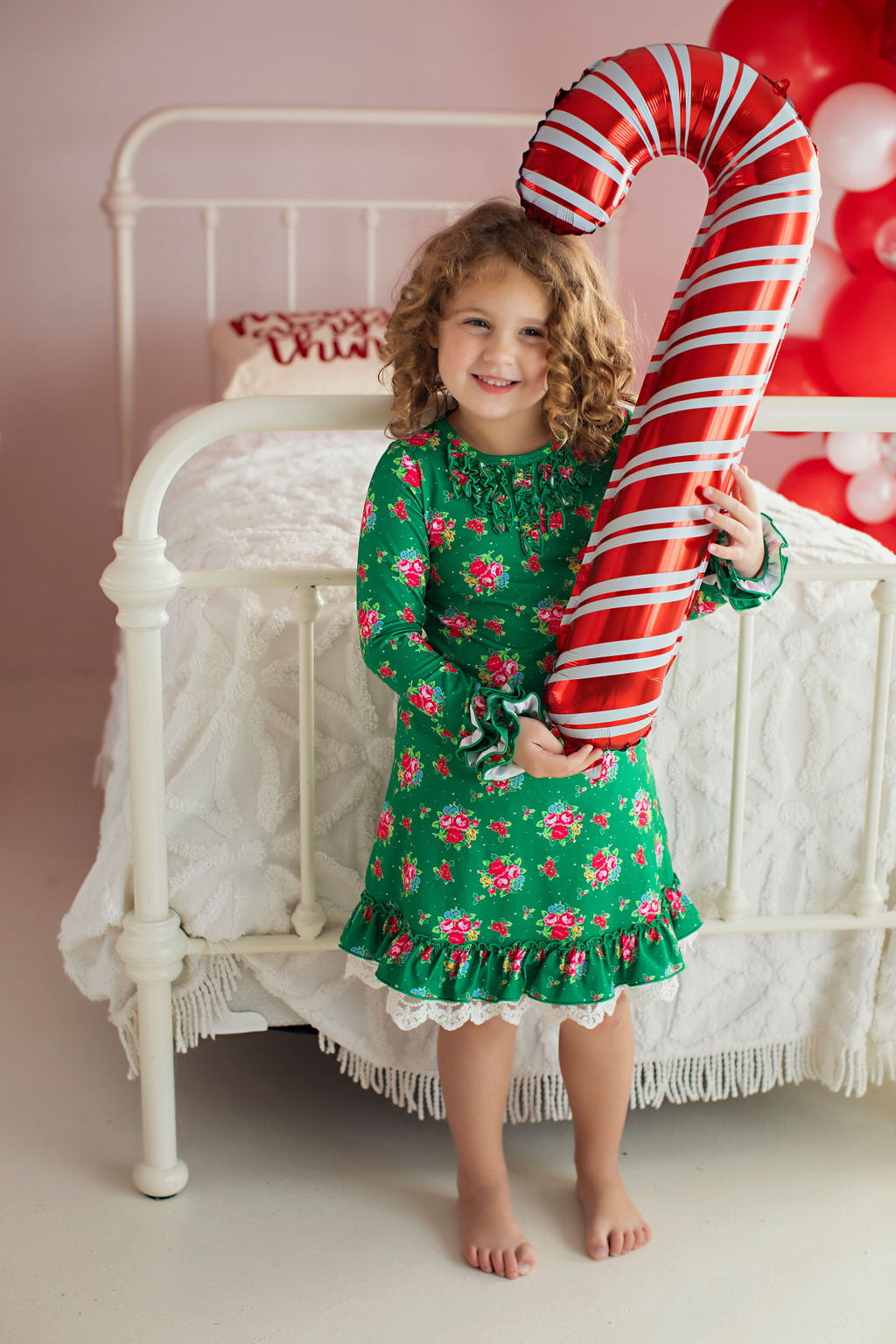 Holiday Cheer Lounge Wear Gown and Bloomers