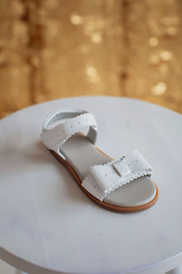 Sweet Bow Sandals White