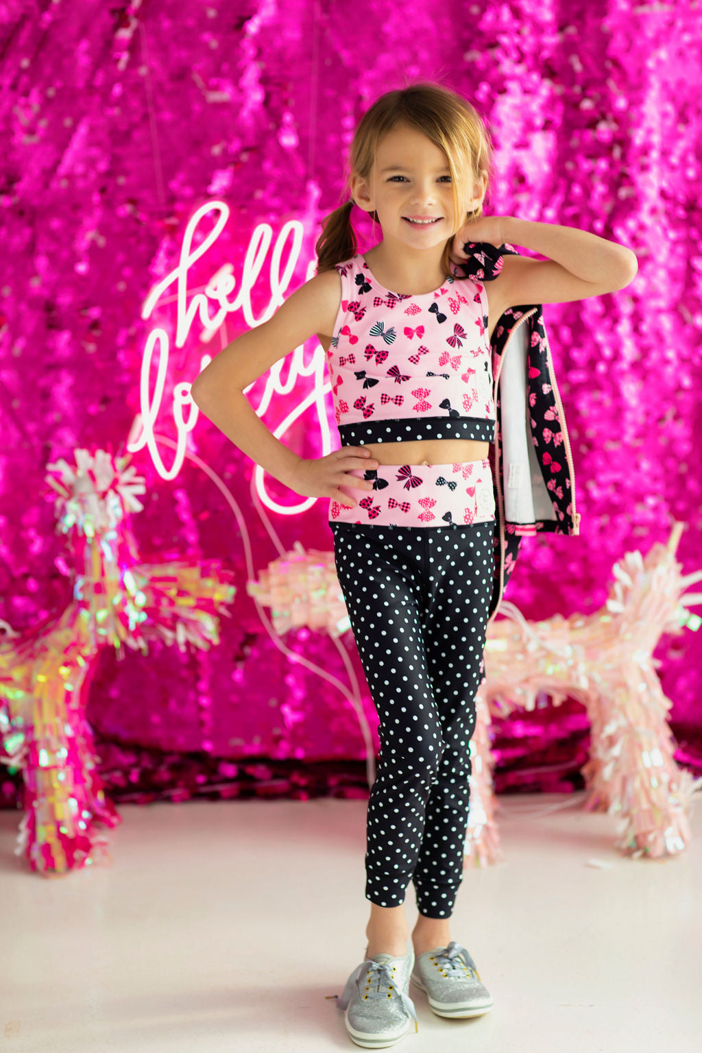 Pretty Little Bows Athletic Top and Pants