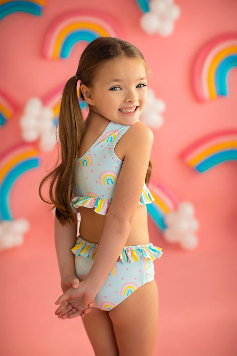 Happy Rainbow Tankini Swim Suit