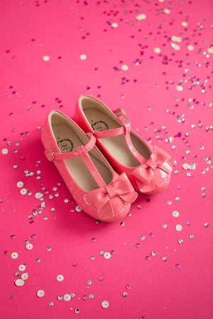 Mary Jane T-Strap Bow Shoe Pink