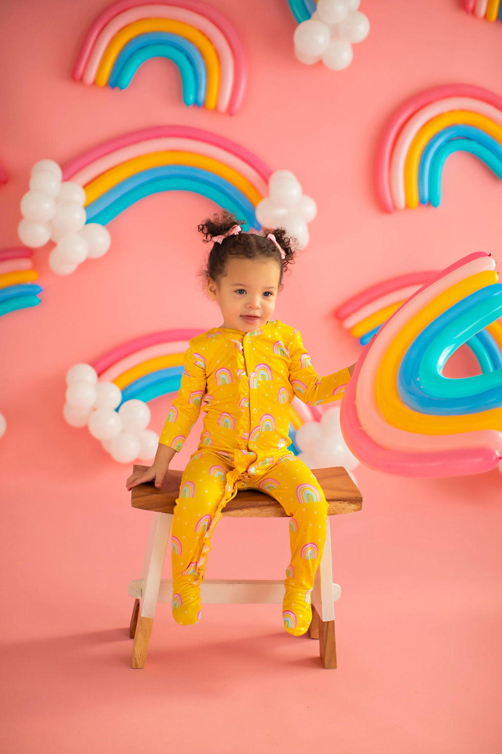 Baby Rainbow Lounge Wear Yellow