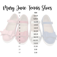 Mary Jane Tennis Shoes Red- Pre Order