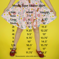 Movie Time Skater Skirt (3966559191085)