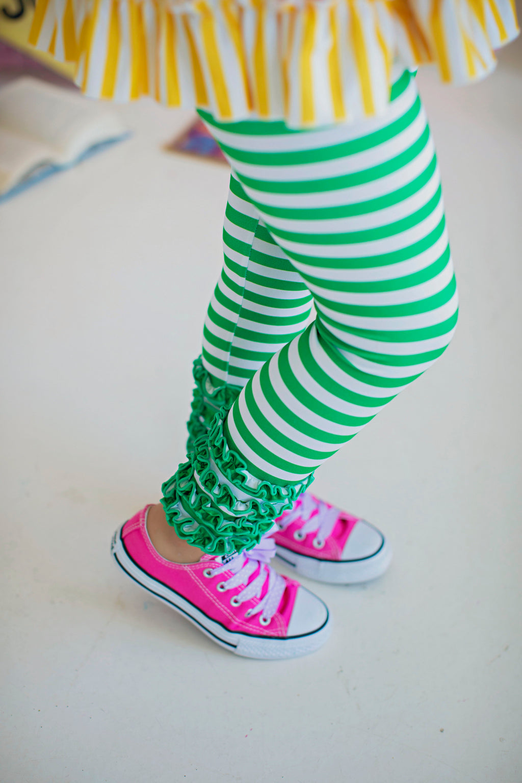 Kelly Green Stripe Legging