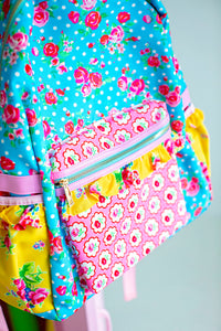 Chalkboard Champion Floral Backpack