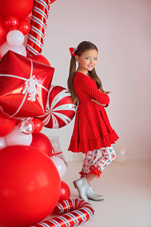 Jingle Joy Polka Dot Dress
