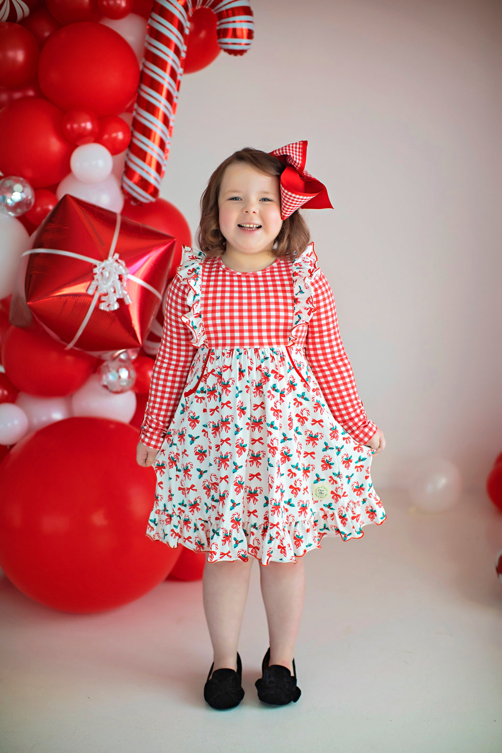 Peppermint Flutter Christmas Dress