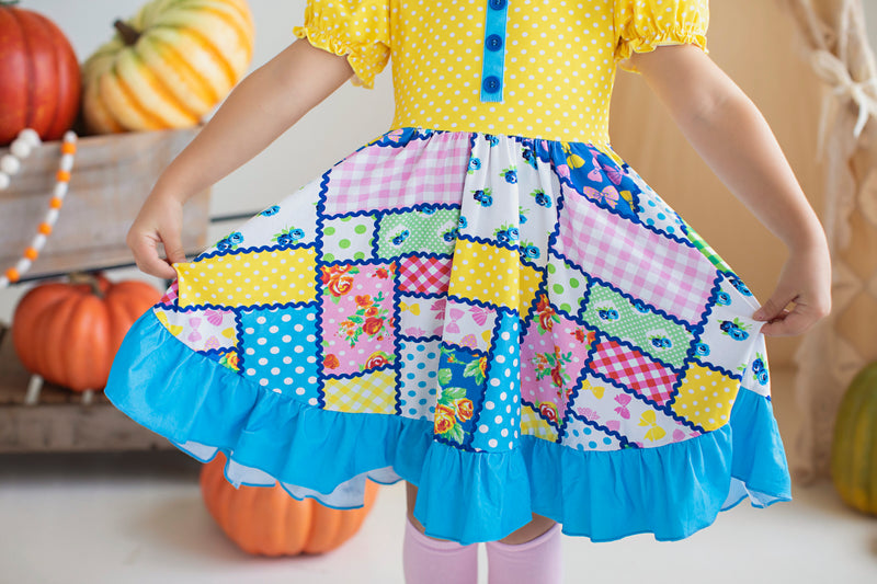 Patchwork Twirl Dress