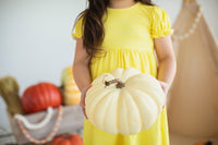 Yellow Dot Ruffle Dress