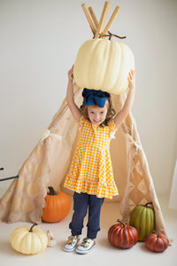 Pumpkin Gingham Tunic
