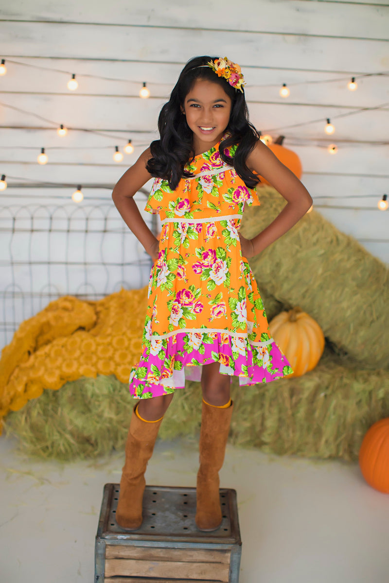 Floral Harvest Hi-low Dress