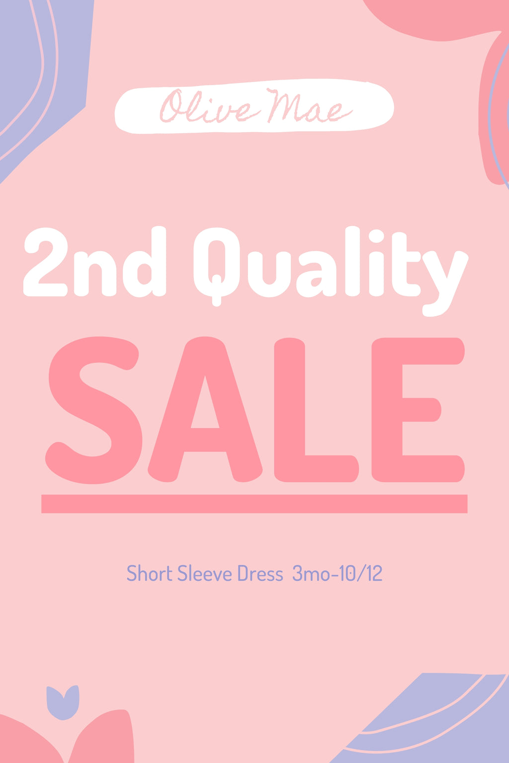 Short Sleeve Dress- 2nd Quality Sale