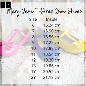 Mary Jane T-Strap Bow Shoe Black
