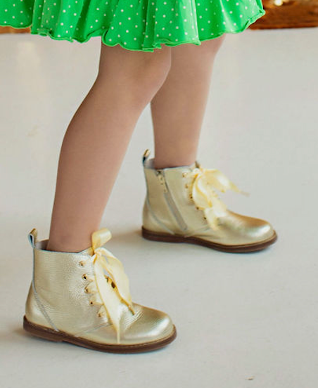 Shimmer Gold  Boots