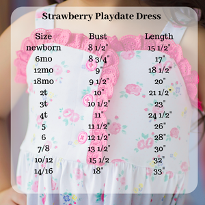 Strawberry Playdate Dress and Bloomers