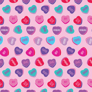 Sweet Talk Candy Heart Blanket