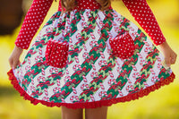Candy Cane Christmas Pocket Dress
