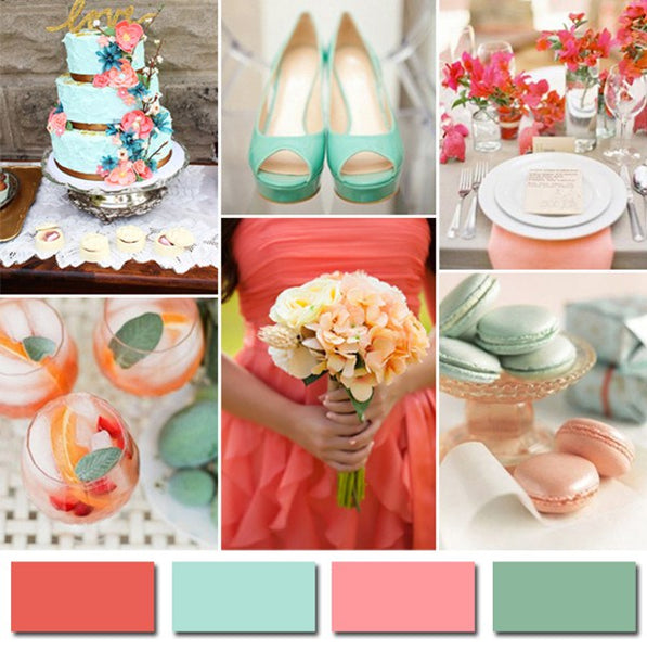 Mint Coral Are The Hottest Wedding Theme Colors This Summer Just