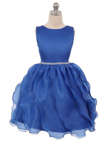 Trendy Flower Girl Dress with Chiffon Layered Skirt