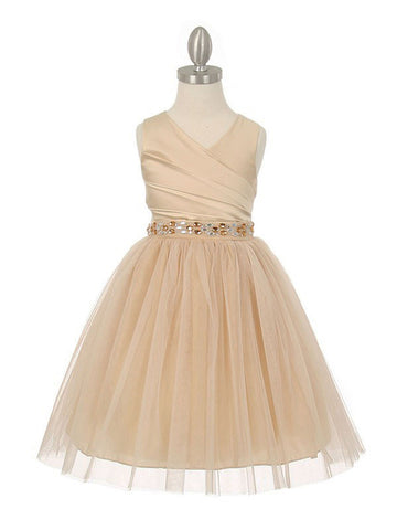 Elegant Dazzling Two Tone Dress