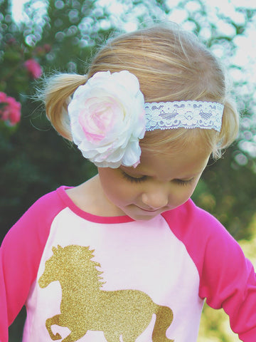 Silk and Lace Headband