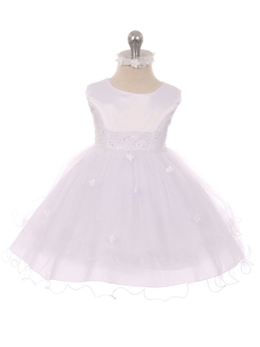 Tulle layer skirt dress with Beaded Waist