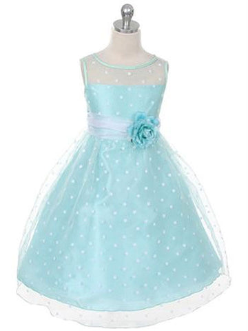 Cute Organza Polka-dot Dress